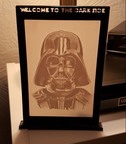 Darth Vader Lithophane